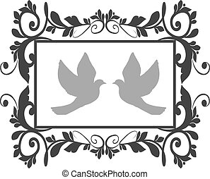 doves with flourishes