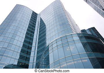 It is a wide shot of Hong Kong modern building