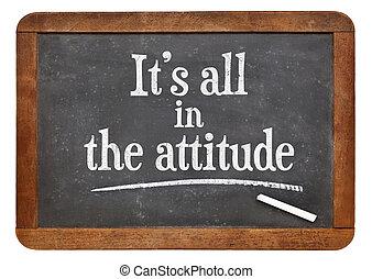 It is all in the attitude on blackboard