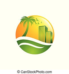 It is suitable for design logo property, real estate, villa, architecture, beach, building, business, concept,