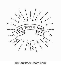 It is summer time. Inspirational vector illustration