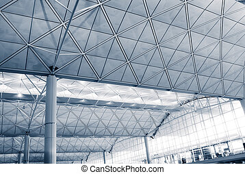 It is the interior architecture structure of Hong Kong International  Airport.