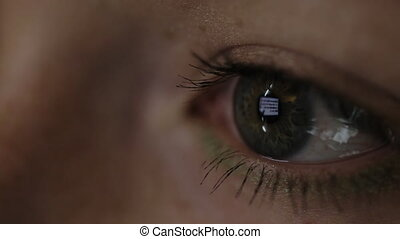 It is the picture of human eye concentrated on the work reflected.