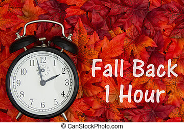 It is time to fall back message Daylight Savings