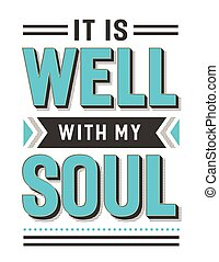 It is Well with my Soul Gospel Hymn Lyrics Vector Poster...