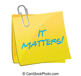 it matters post message illustration