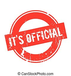 It s Official rubber stamp