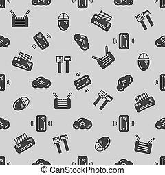 IT seamless pattern