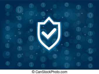 IT security and protection concept as vector illustration background. Generic binary background
