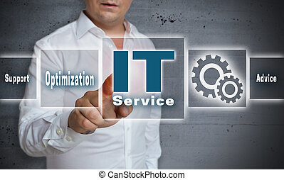 it service touchscreen concept background