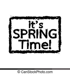 it Spring time typography Illustration design