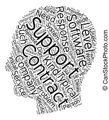 IT Support Contracts text background wordcloud concept