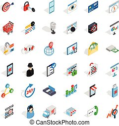 It support icons set. Isometric style of 36 it support vector icons for web isolated on white background