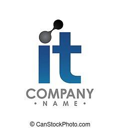 IT technology logo icon letter vector design illustration