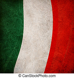 italië, achtergrond, vlag, retro