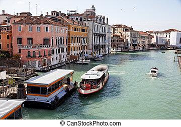 italië, canale, grande, venetie