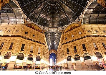 italië, emanuele, -, milaan, galleria, vittorio