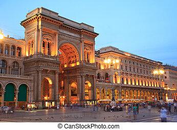 italië, emanuele, milaan, ii, vittorio, galerij