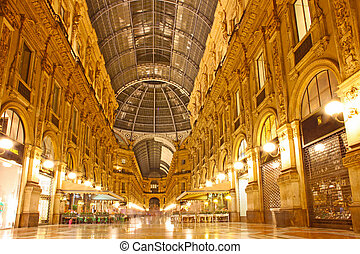 italië, emanuele, milaan, taken, vittorio, galerij
