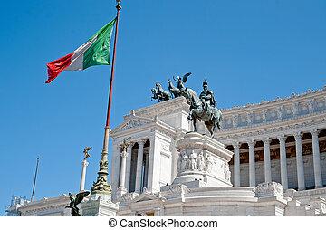 italië, emanuele, rome, monument, vittorio, ii.