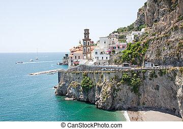 italië, kust, amalfi, atrani