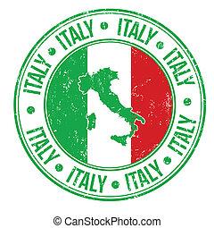 italië, postzegel