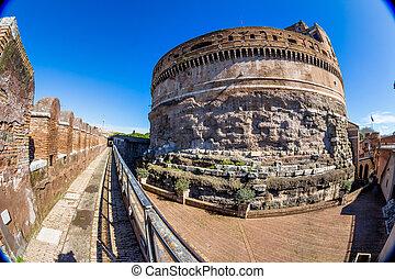 italië, rome, sant'angelo, castel