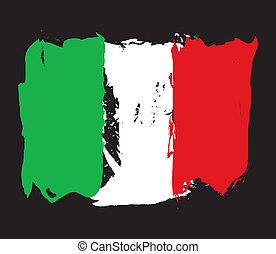 italië vlag, grunge