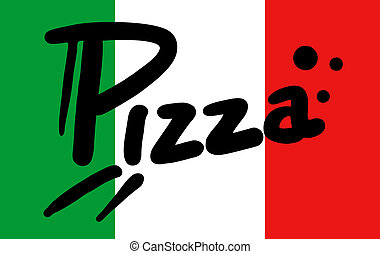 italië vlag, pizza
