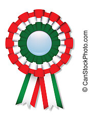 Italia - Celebration cockade with italian flag's colors