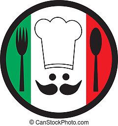 Creative design of italia chef