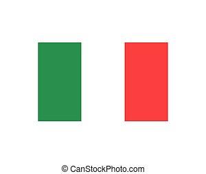 italia flag icon vector illustration