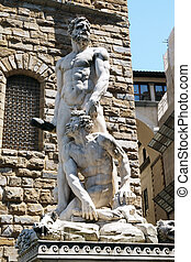 italia, florencia, piazza della signoria, estatua, cacus, ...