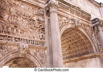 italia, foro, di, romano, roma, severo, settimio, arco