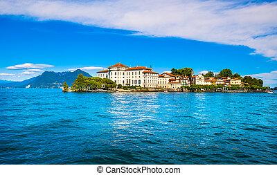 italia, isola, bella, borromean, maggiore, stresa, lago,...