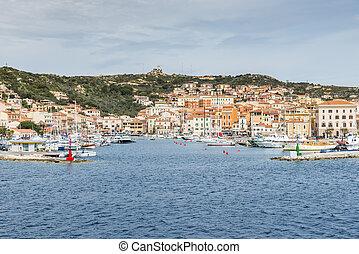 italia, isola, la, maddalena, sardegna, villaggio