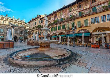italia, plaza, verona, maffei, palazzo, delle, erbe