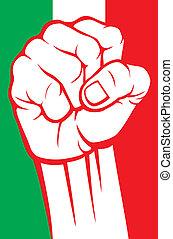 italia, puño