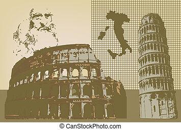 Italia representation in this graphic illustration where we ...