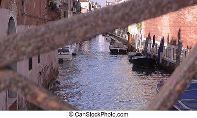 italia, venecia, estrecho, canal