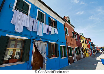 italia, venice., isla de burano