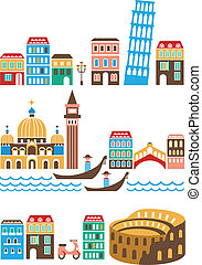 italiaanse , bekende & bijzondere plaatsen
