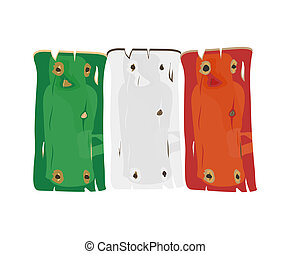 italiaanse , hout, geverfde, vlag