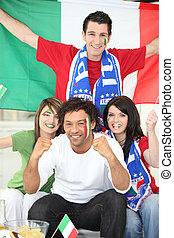 italiaanse , voetbal, aanhang