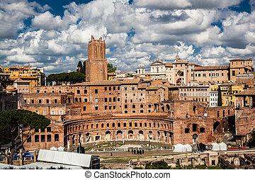 italian építészet, alatt, róma