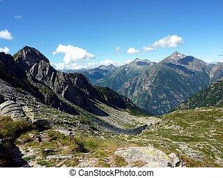 Italian Alps, valley of Gressoney