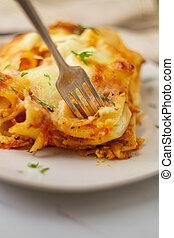 Italian American Baked Ziti - Italian-American cuisine baked...