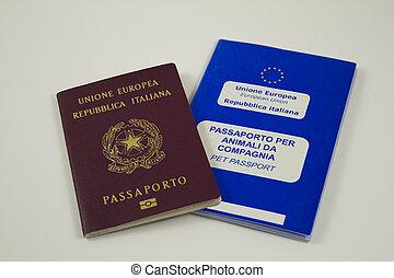 Italian and Pet Animal Passports