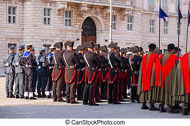 Italian Armed forces' Day - TRIESTE, ITALY - NOVEMBER, 04:...