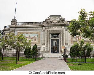 Italian Art Museum building in Lima Peru
